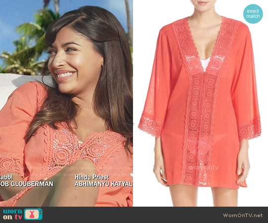 La Blanca 'Island Fare' V-Neck Cover-Up Tunic worn by Hannah Simone on New Girl