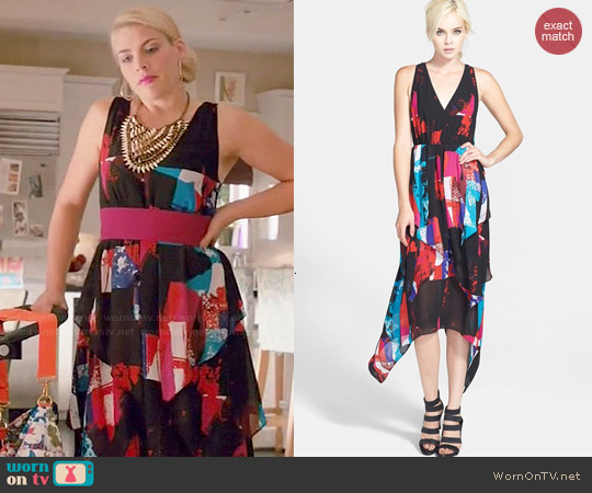 Leith Handkerchief Hem Dress worn by Busy Philipps on Cougar Town