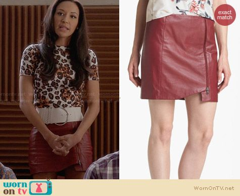 Leith Leather Wrap Skirt worn by Naya Rivera on Glee