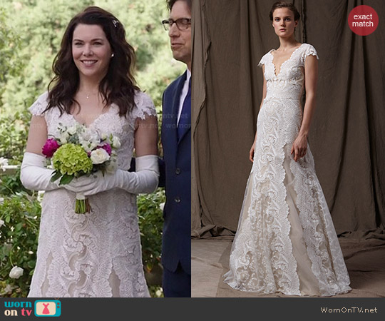 Lela Rose The Cove Gown worn by Lauren Graham on Parenthood