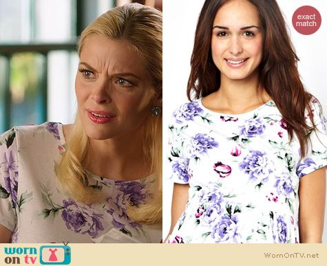 Lemon Breeland Fashion: ASOS Maternity Skater Dress in floral print worn on Hart of Dixie