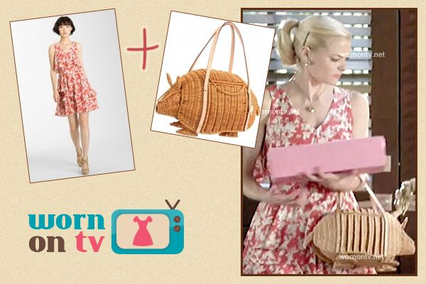 Lemon's straw armadillo bag on the Halloween episode of Hart of Dixie