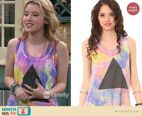 Lennox Scanlon Fashion: Chaser Tie Dye Pyramid Tee worn by Taylor Sprietler
