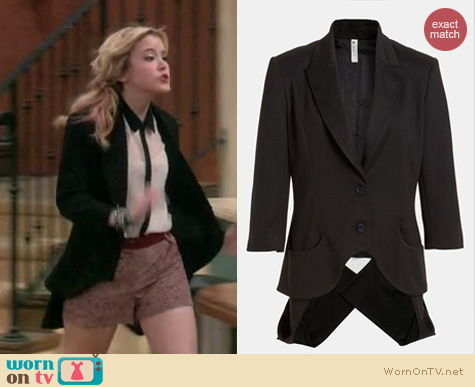 Lennox Scanlon Fashion: Mural Imperialist blazer worn on Melissa & Joey