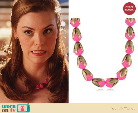 Lenore Dame Nostalgic Neon Necklace worn by Kaitlyn Black on Hart of Dixie