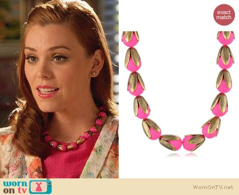 Anthropologie Budding Neon Necklace worn by Kaitlyn Black on Hart of Dixie