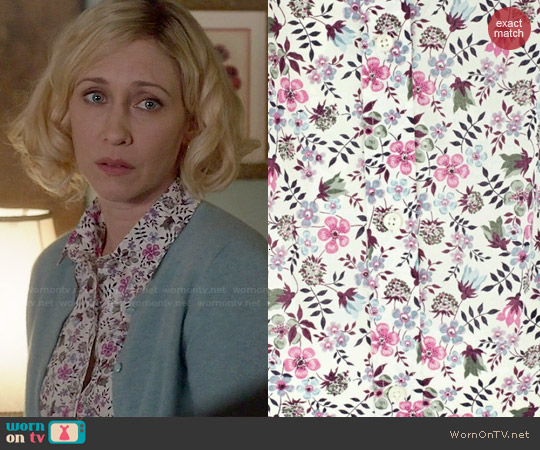 Liberty London Edenham Floral Shirt worn by Vera Farmiga on Bates Motel