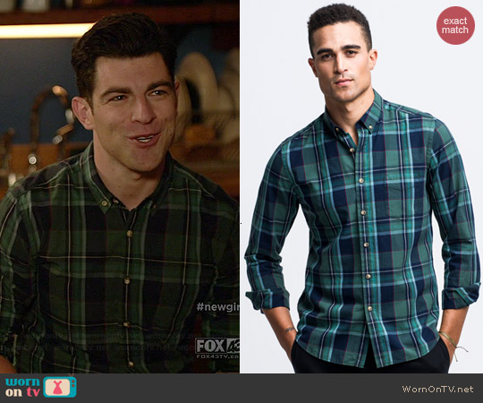 Life After Denim Hudson Shirt in Forest Hills worn by Max Greenfield on New Girl