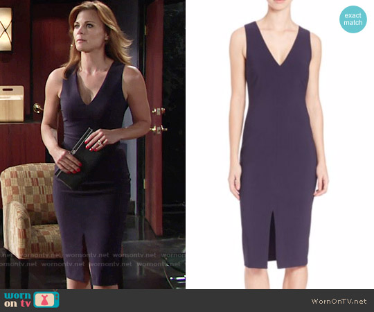 Likely Park Dress in Navy worn by Gina Tognoni on The Young & the Restless