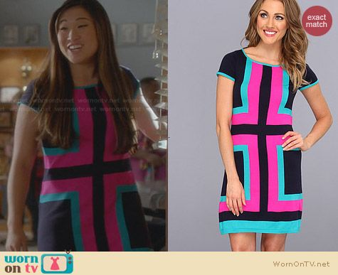 Lilly Pulitzer Isabella Dress worn by Jenna Ushkowitz on Glee