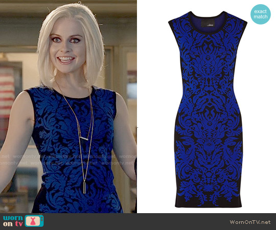 Line Damask Jacquard-knit Dress worn by Rose McIver on iZombie