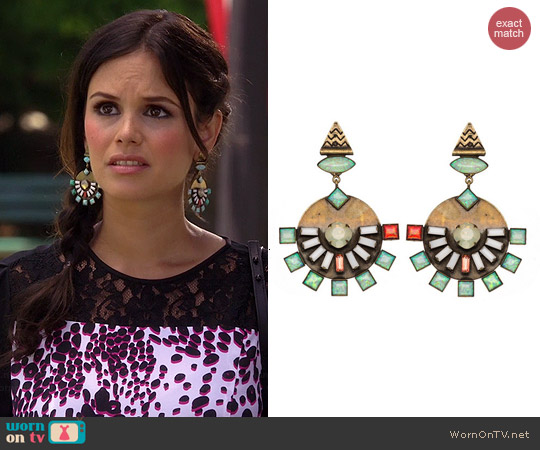 Lionette Dillen Earrings in Yellow worn by Rachel Bilson on Hart of Dixie