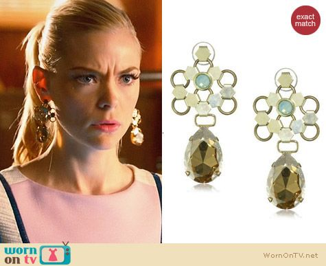 Lionette NY Ducessa Earrings worn by Lemon Breeland on Hart of Dixie