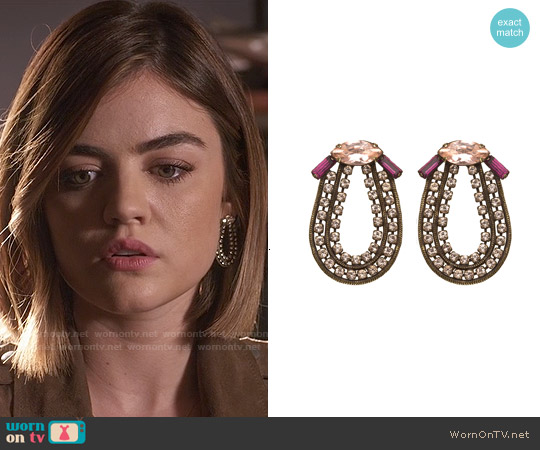 Lionette NY Kennedy Earrings worn by Lucy Hale on PLL