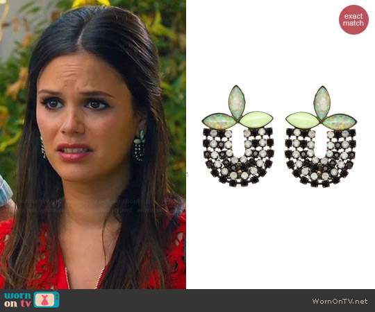 Lionette NY Naomi Earrings worn by Rachel Bilson on Hart of Dixie