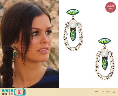 Lionette NY Annie Earrings worn by Rachel Bilson on Hart of Dixie