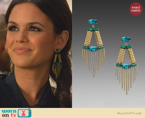 Lionette Noa Sade Greenwich Earrings worn by Rachel Bilson on Hart of Dixie
