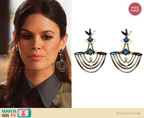 Lionette NY Barcelona Earrings worn by Rachel Bilson on Hart of Dixie