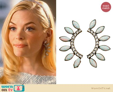 Lionette Byron Bay Earrings worn by Jaime King on Hart of Dixie