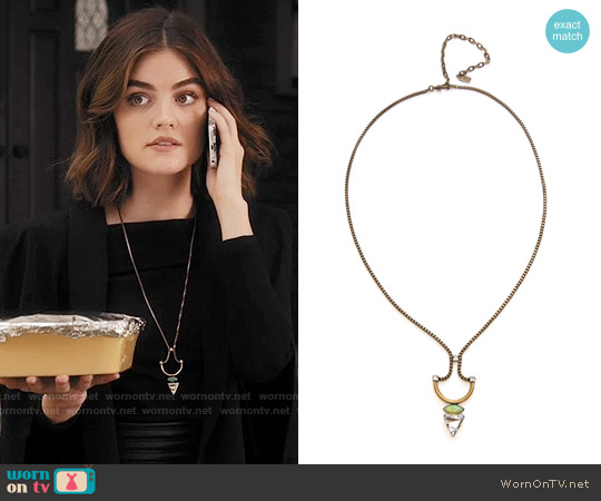 Lionette NY Koti Necklace worn by Aria Montgomery on PLL