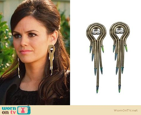 Lionette NY Luciano Earrings worn by Rachel Bilson on Hart of Dixie