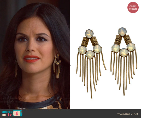 Lionette NY Mabel Earrings worn by Rachel Bilson on Hart of Dixie