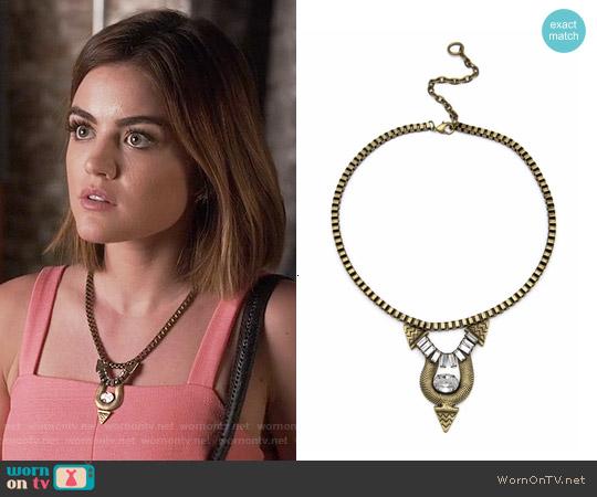 Lionette Santiago Necklace worn by Aria Montgomery on PLL