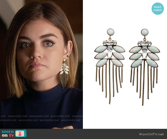 Lionette NY Tahiti Earrings worn by Aria Montgomery on PLL