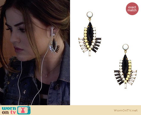 Lionette NY Tokyo Earrings worn by Lucy Hale on PLL