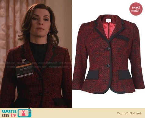 L.K. Bennett Chaya Jacket worn by Julianna Margulies on The Good Wife