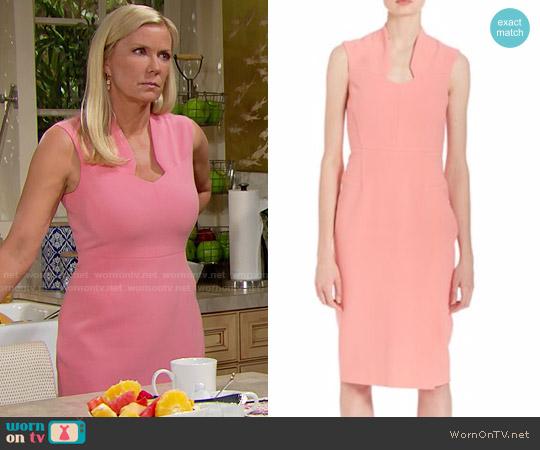 LK Bennett Dendra Sheath Dress worn by Katherine Kelly Lang on The Bold & the Beautiful