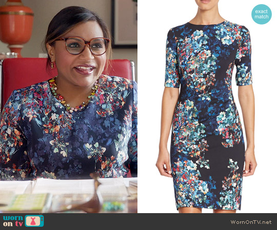 LK Bennett Marli Dress worn by Mindy Kaling on The Mindy Project