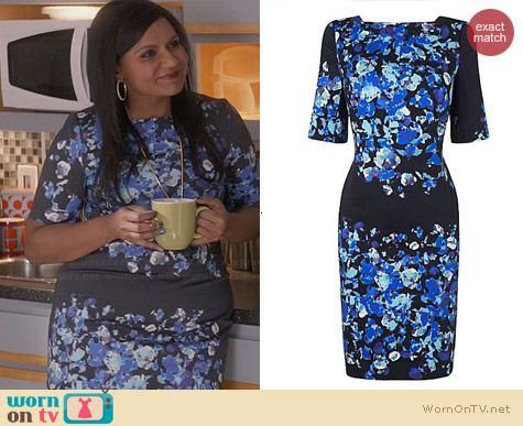 LK Bennett Leticia Dress worn by Mindy Kaling on The Mindy Project