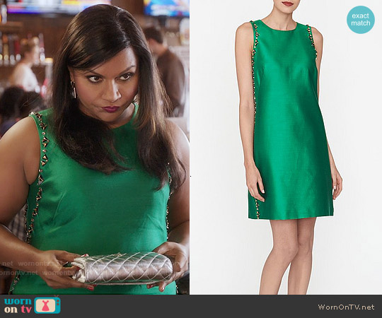 LK Bennett Minnie Embellished Dress worn by Mindy Kaling on The Mindy Project