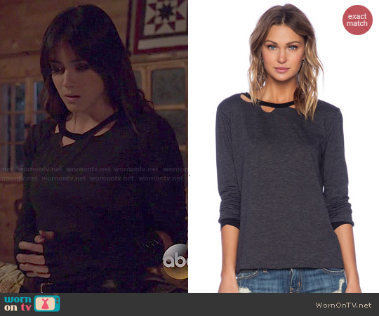 LNA Evan Long Sleeve Top worn by Chloe Bennet on Agents of SHIELD