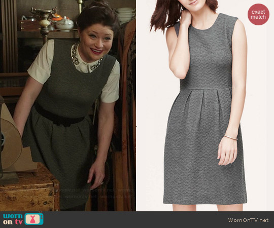 Loft Quilted Skirt Dress worn by Emilie de Ravin on OUAT