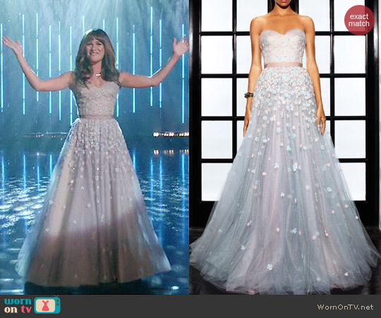 Lorena Sarbu Spring 2014 GS1457 Gown worn by Lea Michele on Glee