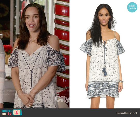 Love Sam Aria Cold Shoulder Dress worn by Cleopatra Coleman on Last Man On Earth