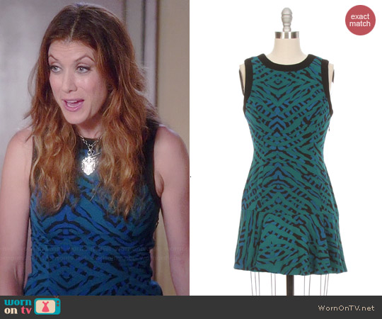 Lovers & Friends As If Printed Flare Dress worn by Kate Walsh on Bad Judge