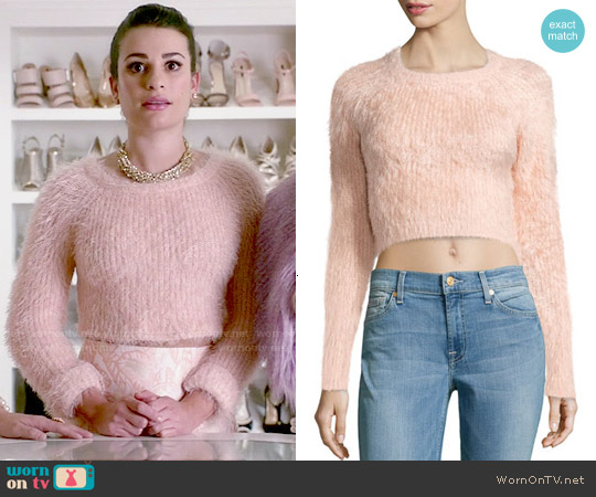 Lovers + Friends Dolly Fuzzy Sweater worn by Lea Michele on Scream Queens