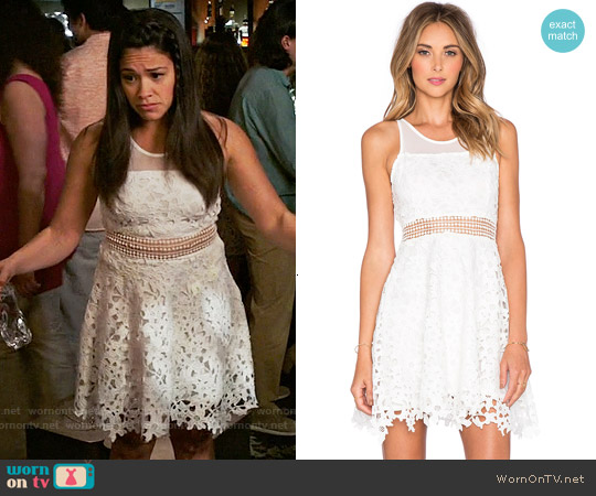 Lovers & Friends Play Date Fit & Flare Dress worn by Gina Rodriguez on Jane the Virgin