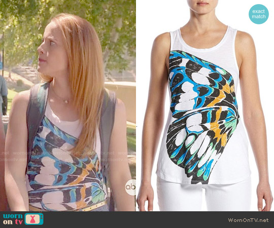 Lucky Brand Abstract Butterfly Tank worn by Katie Leclerc on Switched at Birth