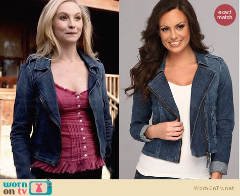 Lucky Brand Addisyn Denim Jacket worn by Candice Accola on The Vampire Diaries