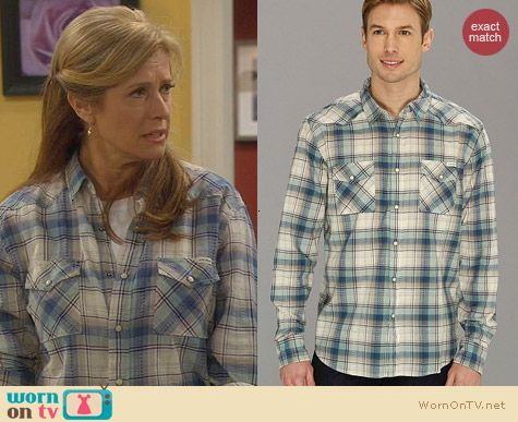 Lucky Brand Ambassador Plaid Shirt worn by Nancy Travis on Last Man Standing