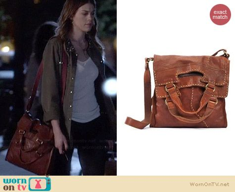 Lucky Brand Abbey Road Leather Bag worn by Lindsey Shaw on PLL