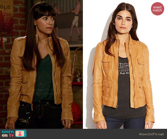 Lucky Brand Downtown Traveler Jacket worn by Hannah Simone on New Girl