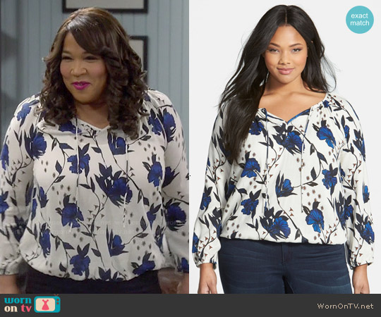 Lucky Brand Floral Print Top worn by Kym Whitley on Young & Hungry