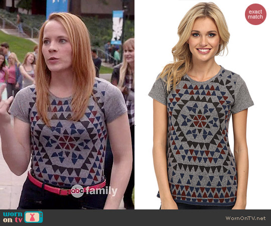 Lucky Brand Geo Firework Tee worn by Katie Leclerc on Switched at Birth