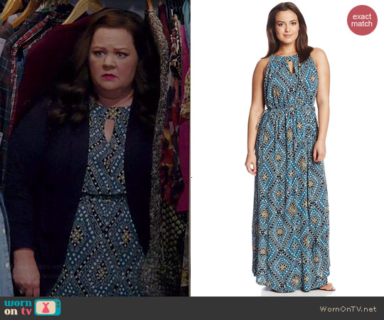 Lucky Brand Goddess Dress worn by Melissa McCarthy on Mike & Molly