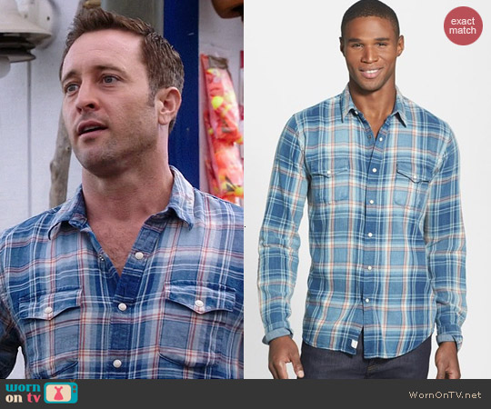 Lucky Brand Grom Plaid Western Shirt worn by Alex O'Loughlin on Hawaii Five-O